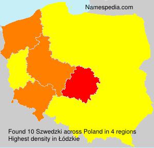 Surname Szwedzki in Poland