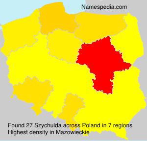 Surname Szychulda in Poland