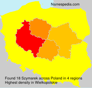 Familiennamen Szymarek - Poland