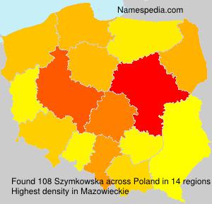 Surname Szymkowska in Poland
