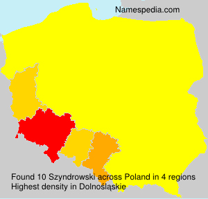 Familiennamen Szyndrowski - Poland