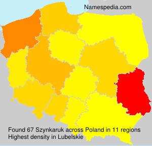 Surname Szynkaruk in Poland