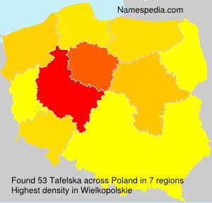Surname Tafelska in Poland