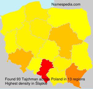 Familiennamen Tajchman - Poland