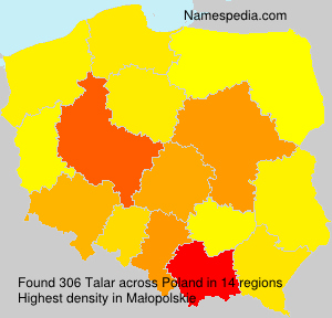 Surname Talar in Poland