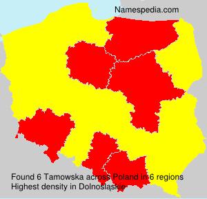 Familiennamen Tamowska - Poland