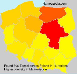 Familiennamen Tanski - Poland