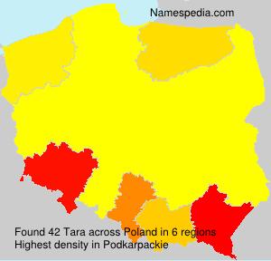 Familiennamen Tara - Poland