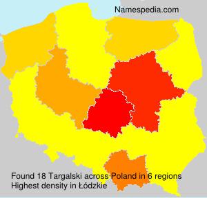 Surname Targalski in Poland