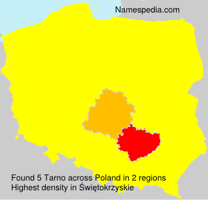Surname Tarno in Poland
