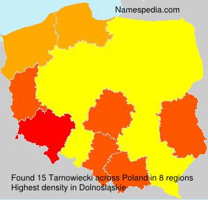 Surname Tarnowiecki in Poland