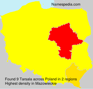 Surname Tarsala in Poland