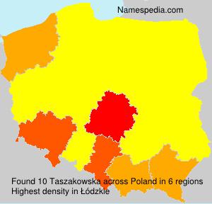 Surname Taszakowska in Poland