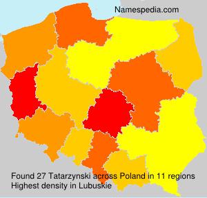 Familiennamen Tatarzynski - Poland