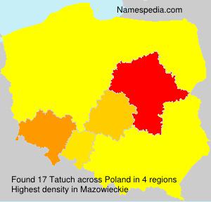 Surname Tatuch in Poland