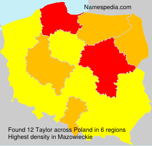 Surname Taylor in Poland
