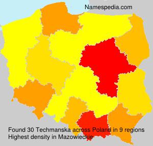 Surname Techmanska in Poland