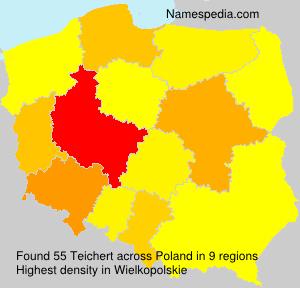 Surname Teichert in Poland