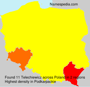 Surname Telechiewicz in Poland