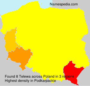 Surname Telewa in Poland