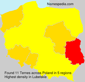 Surname Ternes in Poland
