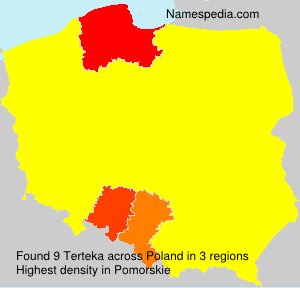 Surname Terteka in Poland