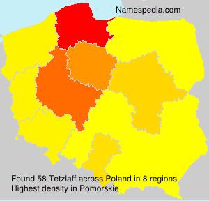 Surname Tetzlaff in Poland