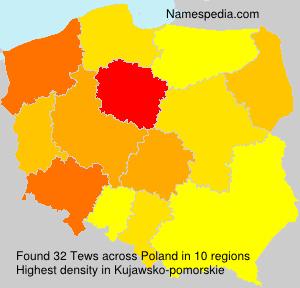 Surname Tews in Poland