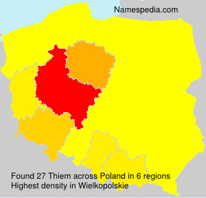 Surname Thiem in Poland