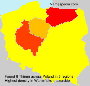 Surname Thimm in Poland