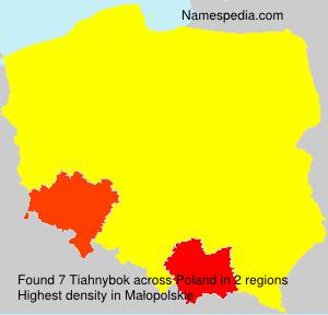 Familiennamen Tiahnybok - Poland