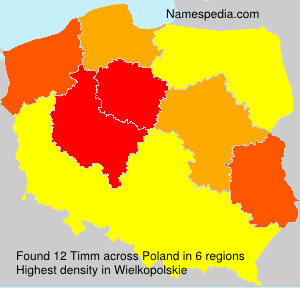 Surname Timm in Poland
