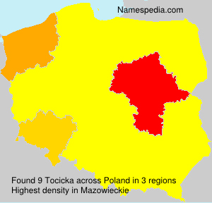 Surname Tocicka in Poland