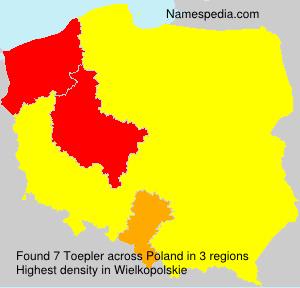Familiennamen Toepler - Poland