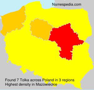 Familiennamen Tolka - Poland
