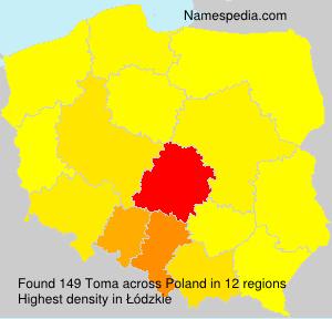 Surname Toma in Poland