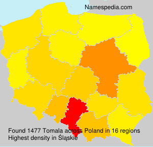 Surname Tomala in Poland