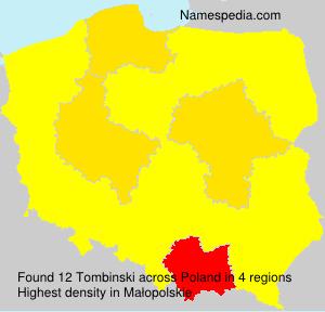 Surname Tombinski in Poland