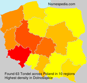 Surname Tondel in Poland
