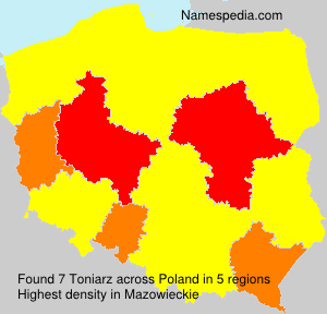 Familiennamen Toniarz - Poland