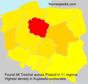 Familiennamen Treichel - Poland