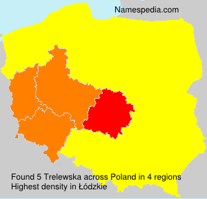 Surname Trelewska in Poland