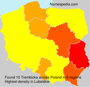 Surname Trembicka in Poland
