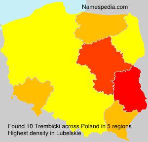Familiennamen Trembicki - Poland
