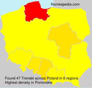 Surname Trendel in Poland