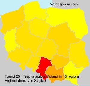 Surname Trepka in Poland