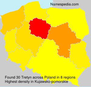 Surname Tretyn in Poland
