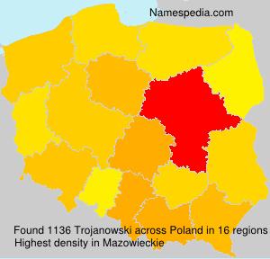 Surname Trojanowski in Poland