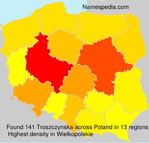 Surname Troszczynska in Poland