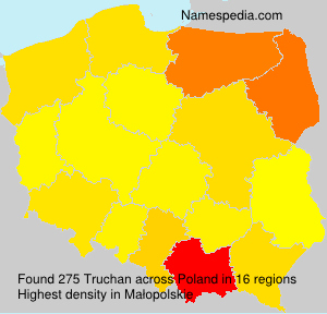 Surname Truchan in Poland